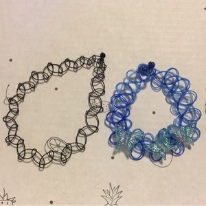 90 Style Choker Bands: Necklace and Arm Band